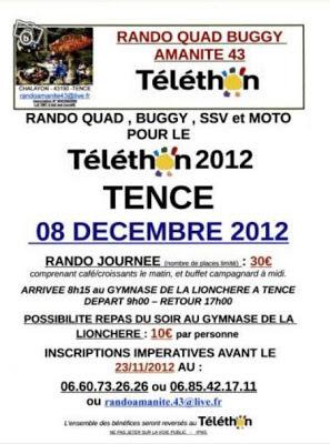 Téléthon 2012, Tence