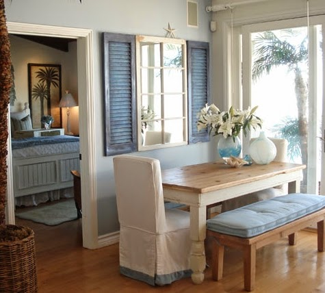 Charming coastal interior decorating with shutters for How do you get into interior design