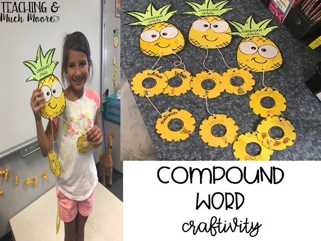 pineapple compound word craftivity