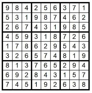Answerkey Suduko Puzzle #29 @BionicBasil®  Brain Training with Cats