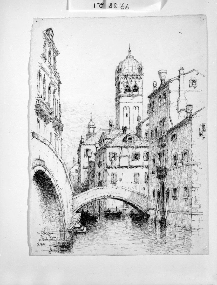 08-Rio-della-Fosca-Venice-Andrew-F-Bunner-Venice-Urban-Architectural-Drawings-from-the-1800s-www-designstack-co