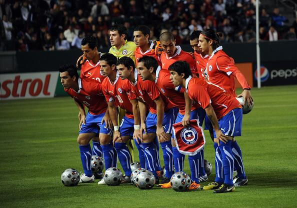 Formación de Chile ante Estados Unidos, amistoso disputado el 23 de enero de 2011
