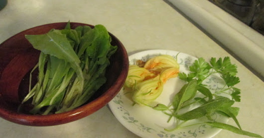Recipe of the Month: Eggs with Squash Blossoms