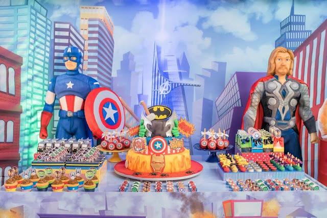 festa infantil super herói