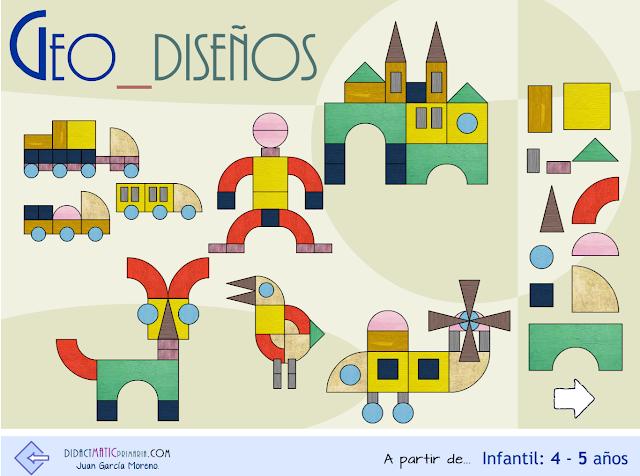 Diseños geométricos. A partir de Infantil 4-5 años.