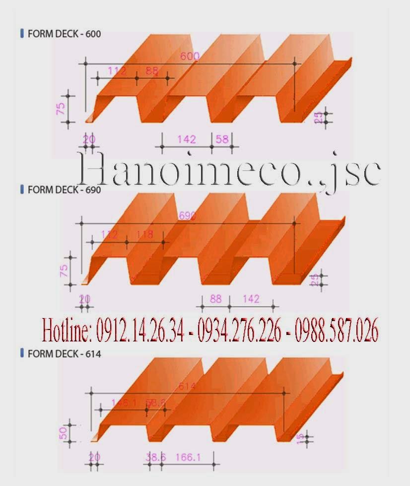 Sàn Deck | tôn Sàn | Sàn Decking | Steel Deck | Tôn đổ Sàn bê tông