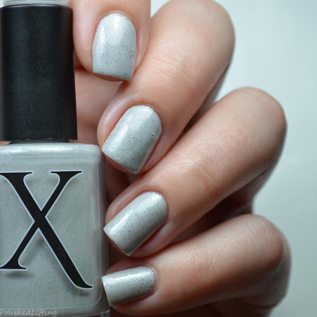 light gray nail polish