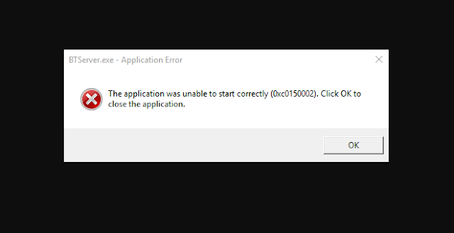 حل مشكلة the application was unable to start correctly 0xc0150002