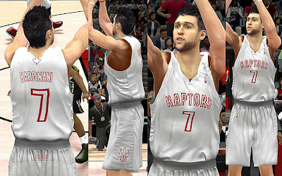 NBA 2K13 Toronto Raptors Fictional Christmas Jersey