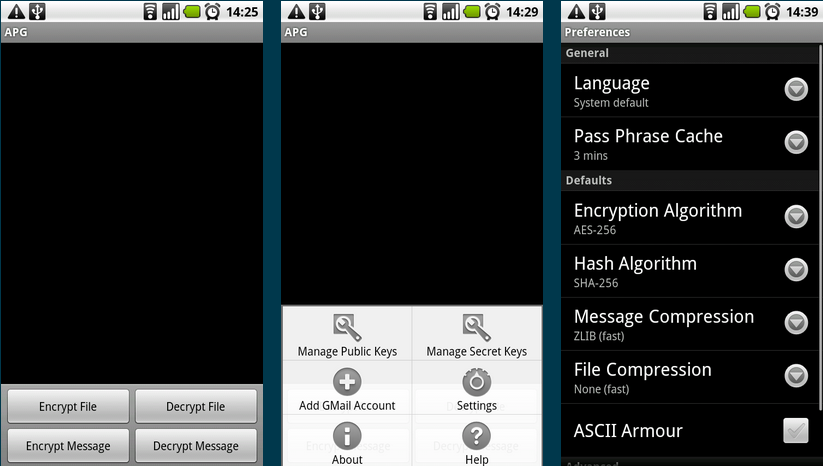 Android Privacy Guard v1 0 8] OpenPGP for Android