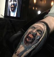 tatuaje para halloween la monja realismo