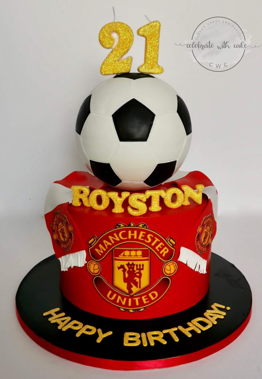 Celebrate With Cake Manchester United 21st Birthday Soccer Cake