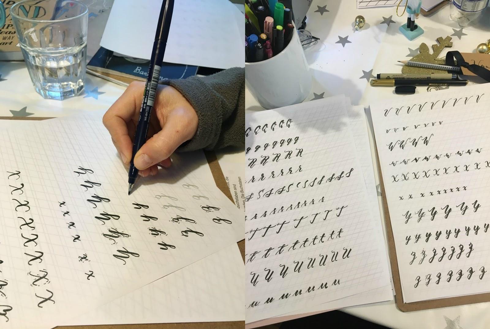 Weihnachtlicher Handlettering Workshop mit Silja von Creatipster in Köln, Lettering, Handlettering lernen, DIY, Schönschrift, Brushlettering Handlettering Kurs Workshop in Köln