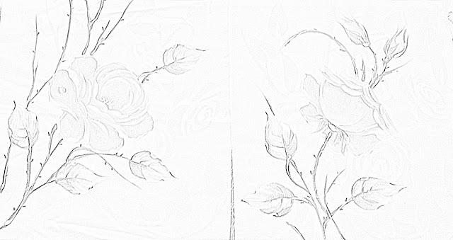 desenho de rosa para pintar em tecido