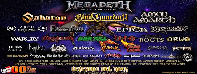 cartel leyendas del rock 2017