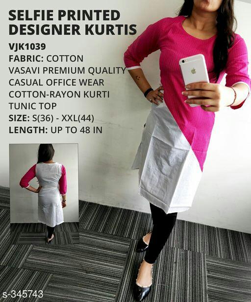 Stylish Selfie cotton rayon kurti