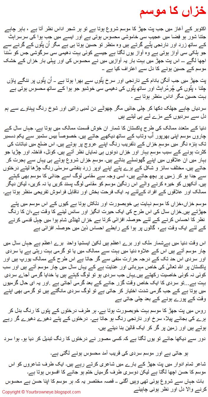 Urdu essay writing