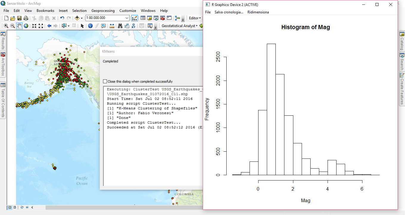 Combine ArcGIS and R – Clustering Toolbox | R-bloggers