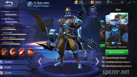 Yi Sun-shin Hero MM Marksman Terbaik Mobile Legends