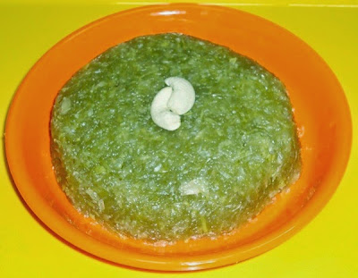 bottle gourd halwa in a serving plate