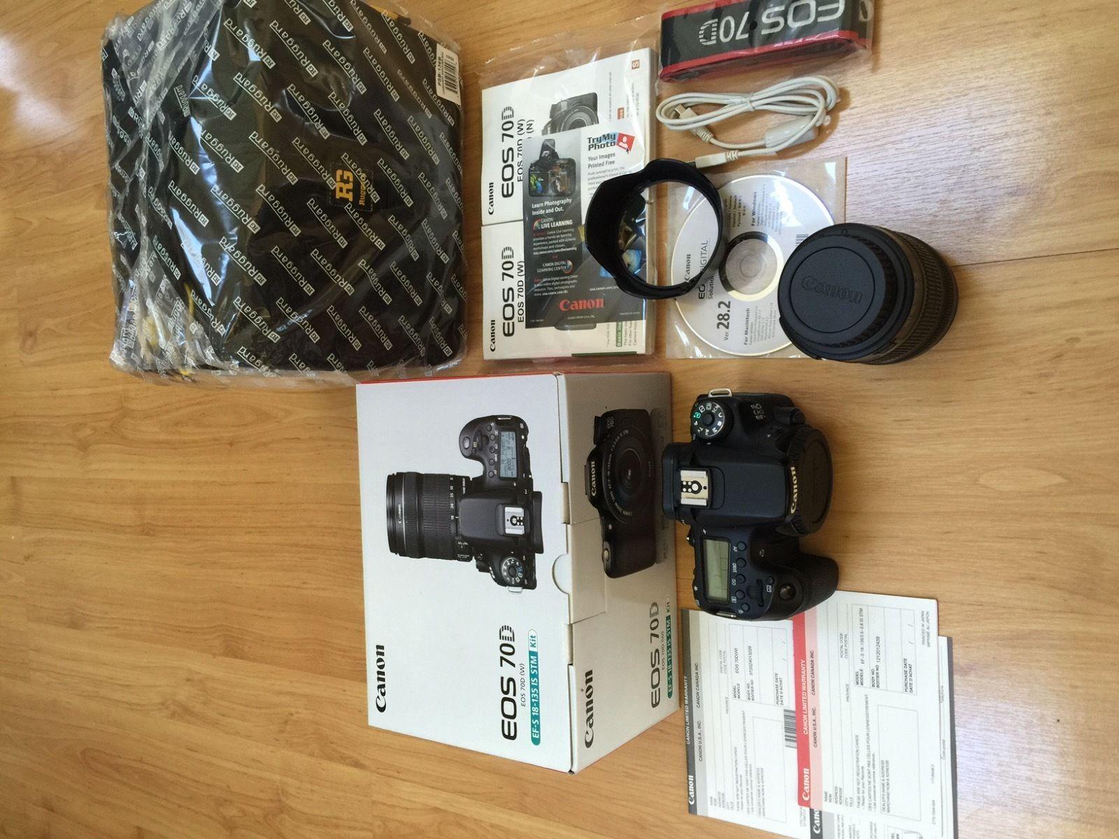 Kamera Canon EOS 70D Lensa Kit 18 135mm