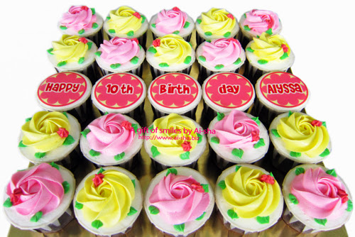 Birthday Cupcake Roses Buttercream