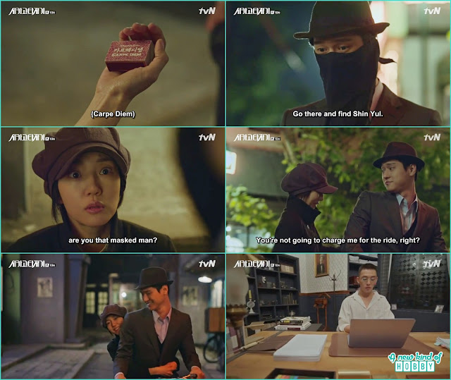 jin o in 1930 reveal himself the mask man who save jeon seol life - Chicago Typewriter: Episode 10 korean drama