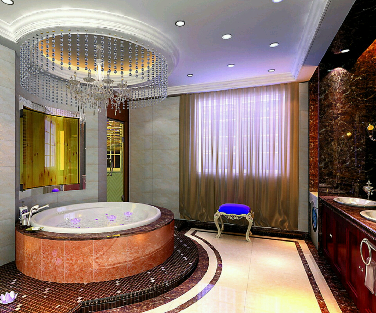 Home Design Ideas Bathroom: New Home Designs Latest.: Luxury Bathrooms Designs Ideas