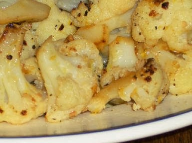 Cauliflower with Garlic and Lemon  found on KalynsKitchen.com