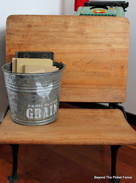 Rustic Farmhouse Grain Seed Bucket