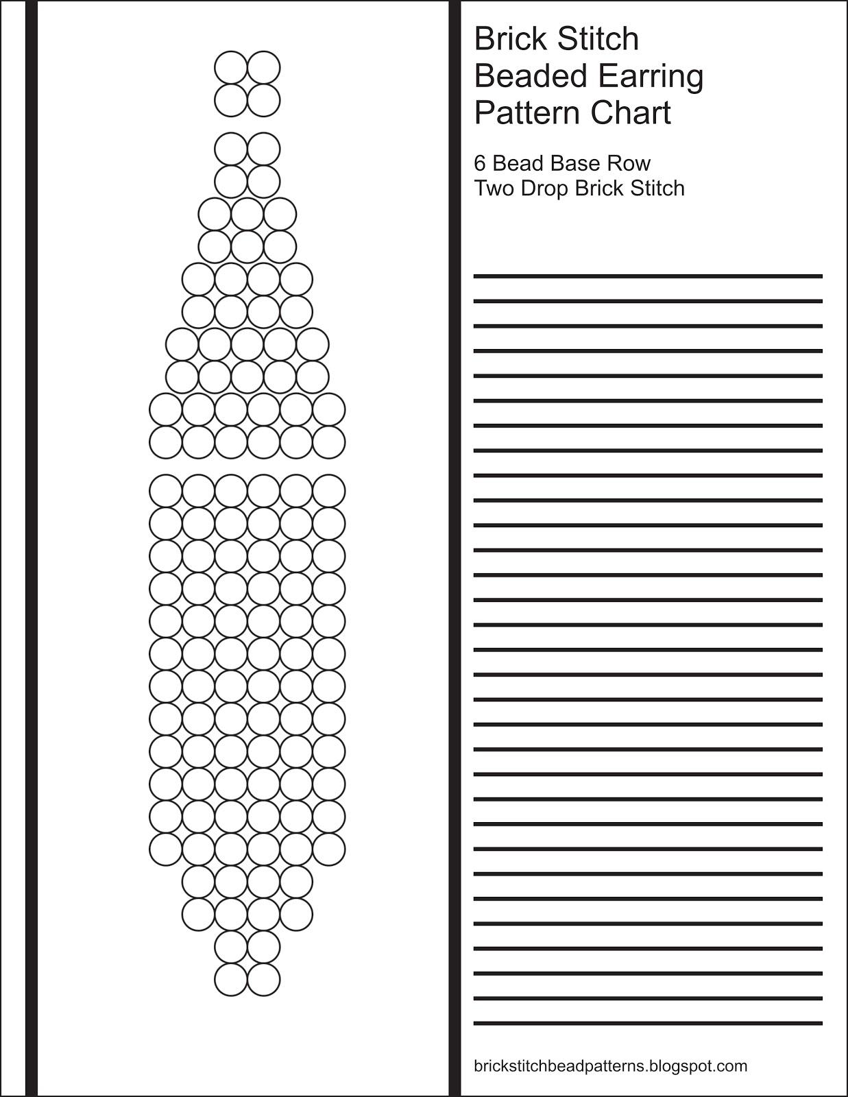 Brick Stitch Bead Patterns Journal 6 Bead Base Row 2 Drop