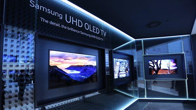 le blog hd land ifa 2013 samsung oled tv 4k 55 pouces. Black Bedroom Furniture Sets. Home Design Ideas
