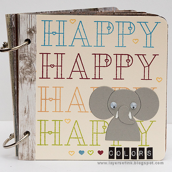 Layers of ink - Happy Colors Board Book Tutorial by Anna-Karin Evaldsson with SSS Friends Collection