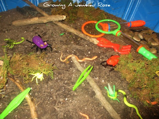 spring sensory station digging in dirt activity