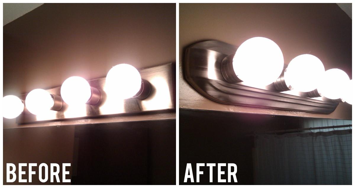 Spray Paint Light Fixtures Brushed Nickel Migrant Resource Network - Painting bathroom light fixtures