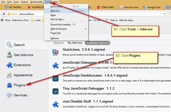 Hướng dẫn mở Java trên các trình duyệt Firefox, Chrome, IE