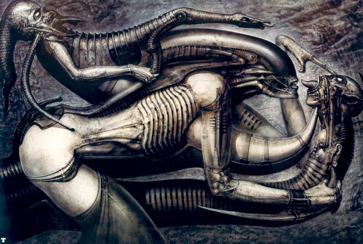Alien : Evolution of the Space Jockey via Giger's Necronomicon