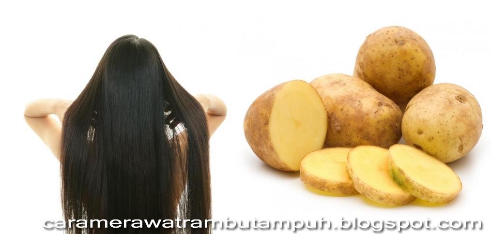 3 Cara Mengagumkan Memanjangkan Rambut Panjang Dengan Kentang