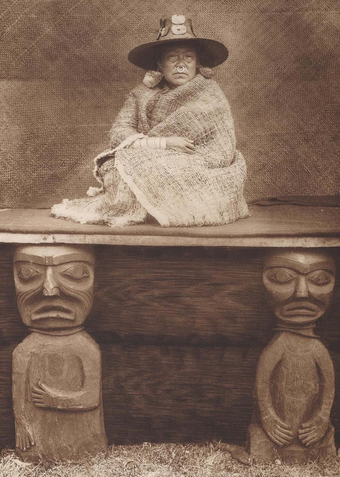 A Kwakiutl chief's daughter. 1910.