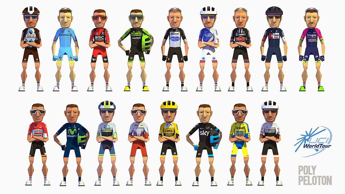 1244962af Poly Peloton  2015 Kit - All 17 World Tour Teams