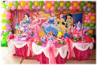 Dekorasi Ulang Tahun Anak Bertema Princess