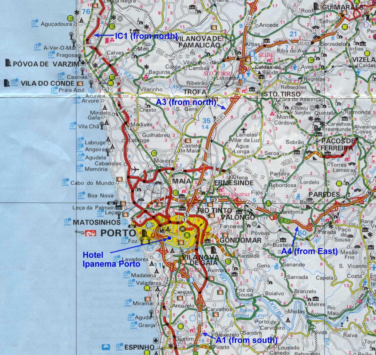 mapa estradas porto Mapas de Porto   Portugal | MapasBlog mapa estradas porto
