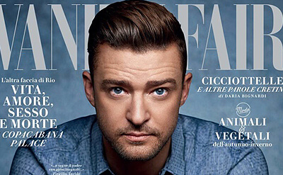 Justin Timberlake es la portada de Vanity Fair Italia.