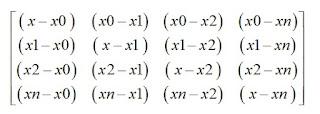formula geral matriz lagrange