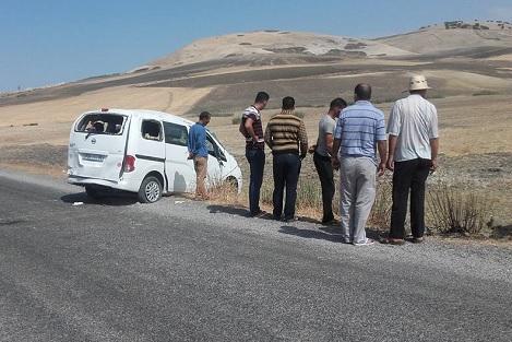 قتيل و6 جرحى في انقلاب تاكسي قرب با محمد