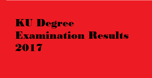 ku degree 1st sem results 2016-17