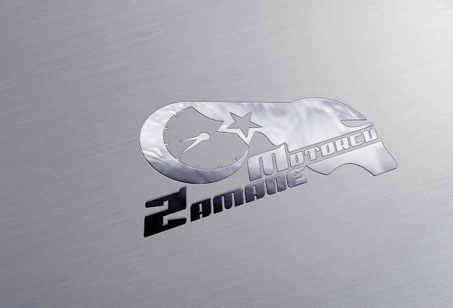 motorcu logo tasarımı metal