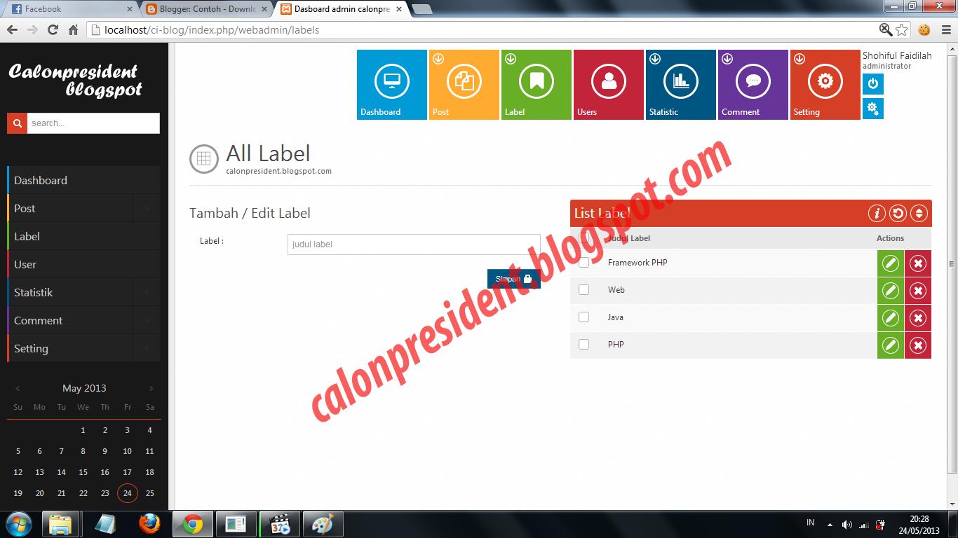 Tutorial Codeigniter Content Management System Cms Dengan Codeigniter Contoh