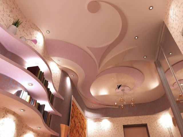 Matching Bedroom Ceiling And Wall Lights : Pop False Ceiling Designs and Pop Wall Art Designs for interior