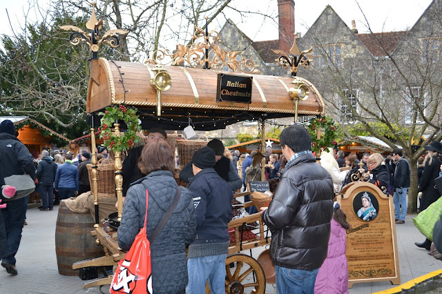 A cart selling roasted chestnuts